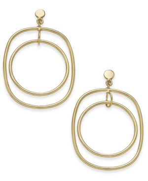 Image of Thirty One Bits Eclipse Hoop Earrings from The Workshop at Macy's