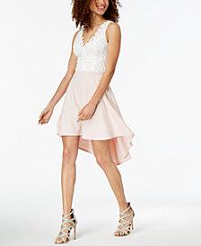 B Darlin Juniors' Daisy Lace High-Low Dress
