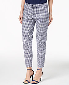Anne Klein Gingham Tailored Pants