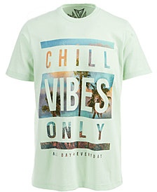 Univibe Men's Chill Vibes Only Graphic-Print T-Shirt