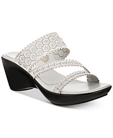 Callisto Tyler Embellished Slide Wedge Sandals, Created for Macy's