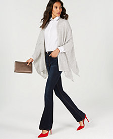 Charter Club Pure Cashmere Wrap & Boot-Cut Jeans, Created for Macy's