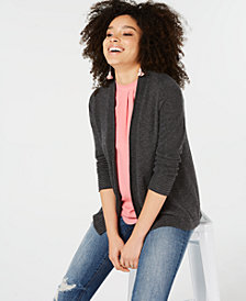 Charter Club Pure Cashmere Long-Sleeve Completer Sweater in Regular & Petite Sizes, Created for Macy's