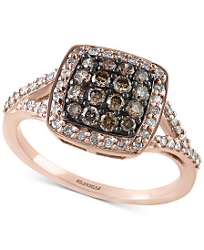 EFFY® Diamond Cluster Ring (5/8 ct. t.w.) in 14k Rose Gold
