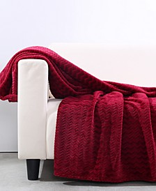 "VelvetLoft Zig-Zag 50"" x 60"" Throw"