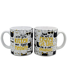 CLOSEOUT! TMD Holdings Cat 2-Pc. Mug Set