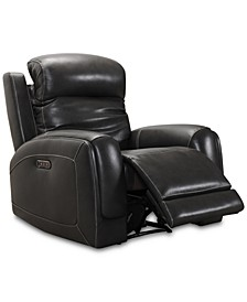CLOSEOUT! Winterton Leather Power Recliner With Power Headrest, Lumbar And USB Power Outlet