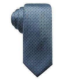 Alfani Men's Natte Slim Silk Tie, Created for Macy's