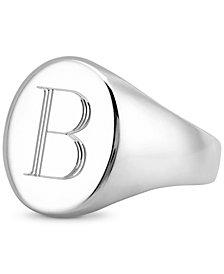 Sarah Chloe Initial Signet Ring in Sterling Silver
