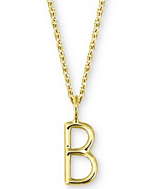 "Amelia Initial 16"" Pendant Necklace in 14K Gold"