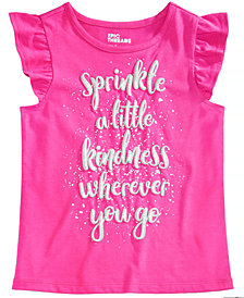 Epic Threads Little Girls Flutter-Sleeve Graphic-Print T-Shirt, Created for Macy's