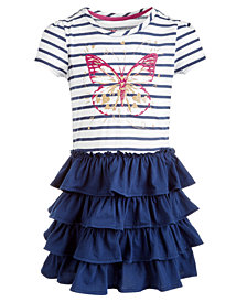 Epic Threads Little Girls Striped Butterfly Dress, Created for Macy's