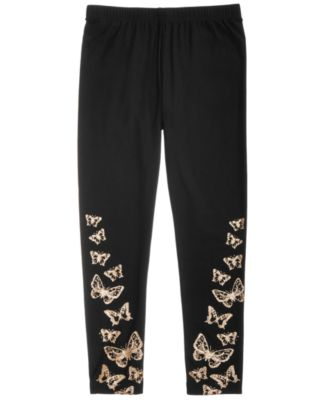 Big Girls Border-Print Butterfly Leggings, Created for Macy's