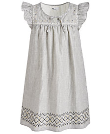 Epic Threads Big Girls Striped Cotton Shift Dress, Created for Macy's