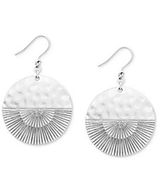 Lucky Brand Silver-Tone Rising Sun Drop Earrings