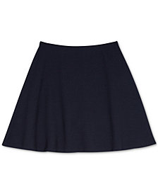 Nautica Big Girls Plus Basket Weave Scooter Skirt