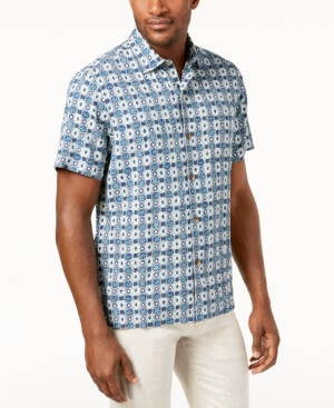 afbf0e3b UPC 719260249752 product image for Tommy Bahama Men's Tulum Tiles Silk Shirt  | upcitemdb.com ...