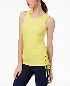I.N.C. Lace-Up Tank Top, Created for Macy's