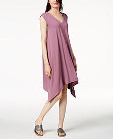Eileen Fisher Stretch Jersey Handkerchief-Hem Dress