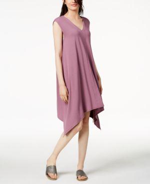 Eileen Fisher Stretch Jersey Handkerchief-Hem Dress 6436562