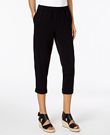 Eileen Fisher Organic Cotton Slim Cropped Pants, Regular & Petite Sizes