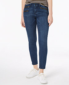 Vanilla Star Juniors' Zip-Pocket Ankle Skinny Jeans