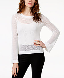 MICHAEL Michael Kors Cotton Semi-Sheer Sweater