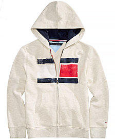 Tommy Hilfiger Little Boys Back Art Full-Zip Hooded Sweatshirt