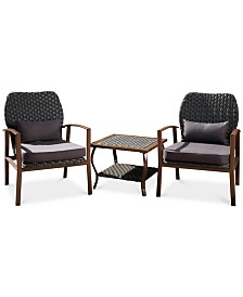 Greyson 3-Pc. Outdoor Chat Set, Quick Ship
