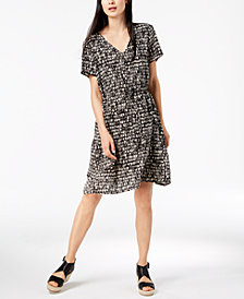 Eileen Fisher Printed Silk Dress, Regular & Petite