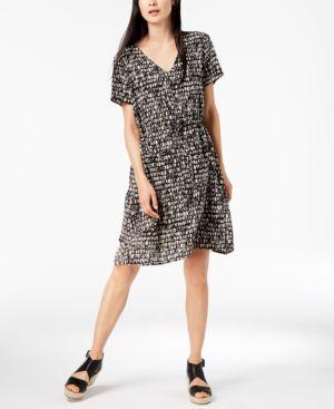 Eileen Fisher Printed Silk Dress, Regular & Petite 6436548