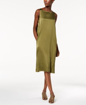 Eileen Fisher Silk Bateau-Neck Tank Dress 6436542