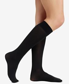 68d2e1c69e1 Hue Women s Soft Opaque Knee High Trouser Socks   Reviews - Handbags ...