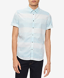Calvin Klein Jeans Men's Chambray Striped Shirt