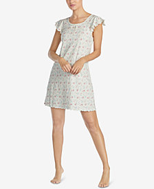 Lauren Ralph Lauren Petite Cotton Printed Short Nightgown