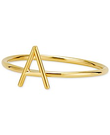 Amelia Initial Monogram Ring in 14k Gold