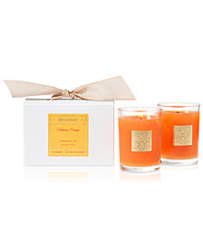 Aromatique Valencia Orange Boxed Votive Candles, Set of 2