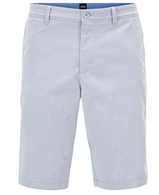 BOSS Men's Slim-Fit Stretch Twill Shorts