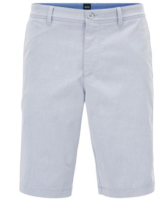Slim-fit shorts in two-tone Italian stretch twill BOSS