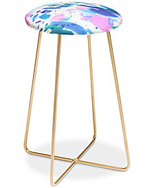 Deny Designs Amy Sia Watercolor Splash Counter Stool