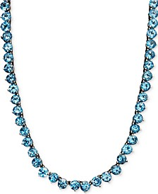 Blue topaz Necklace (45 ct. t.w.) in Sterling Silver (Also Available in Peridot, Amethyst, Garnet & Multi-Stone)