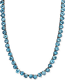 Sterling Silver Necklace, Blue Topaz Necklace (45 ct. t.w.) (Also Available in Amethyst, Peridot, Garnet & Multi-Stone)
