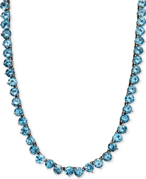Sterling Silver Necklace, Blue Topaz Necklace (45 ct. t.w.)