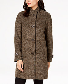 Jones New York Stand-Collar Coat