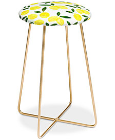 Deny Designs Hello Sayang Lemon Drops Counter Stool