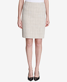 Calvin Klein Tweed Pencil Skirt, Regular & Petite