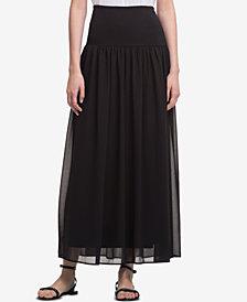 DKNY Banded-Waist Maxi Skirt