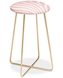 Deny Designs Natalie Baca Zebra Stripes Counter Stool
