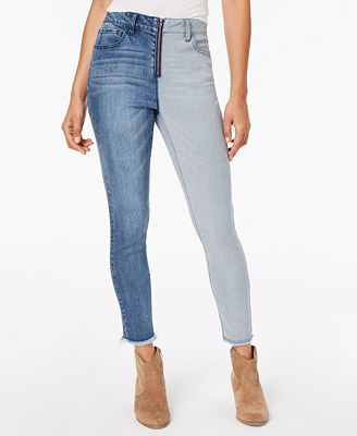 Dollhouse Juniors Two Tone Ankle Skinny Jeans Jeans Juniors