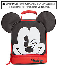 Disney's® Little & Big Boys Mickey Mouse Double-Compartment Lunch Bag